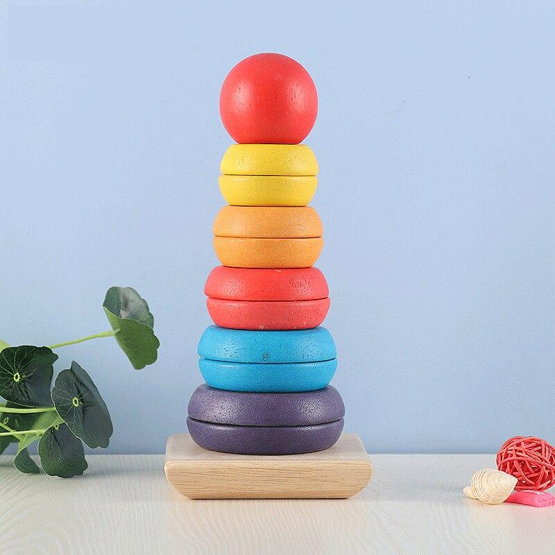 Новые Деревянные 3D игрушки Монтессори для обучения детей, детские красочные деревянные блоки, развивающая игрушка для детей, рождественски...