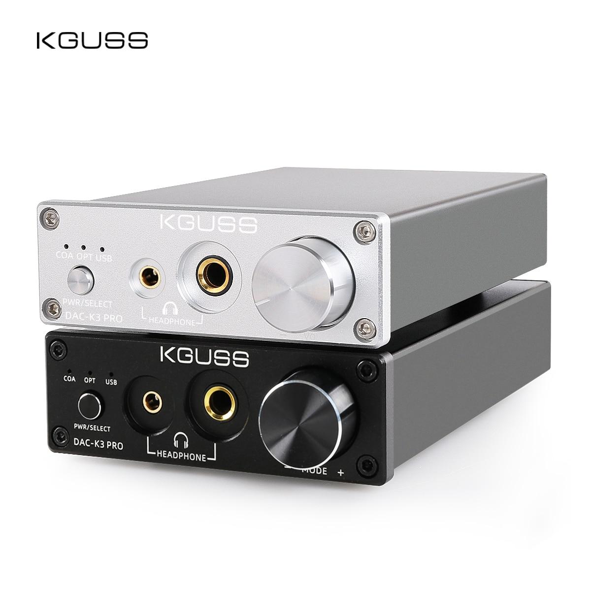 KGUSS DAC-K3PRO TPA6120A2 ESS9018K2M MINI HIFI USB DAC Decoded Audio Headphone Amplifier 24BIT 192KHz AMP DC12V  US/EU