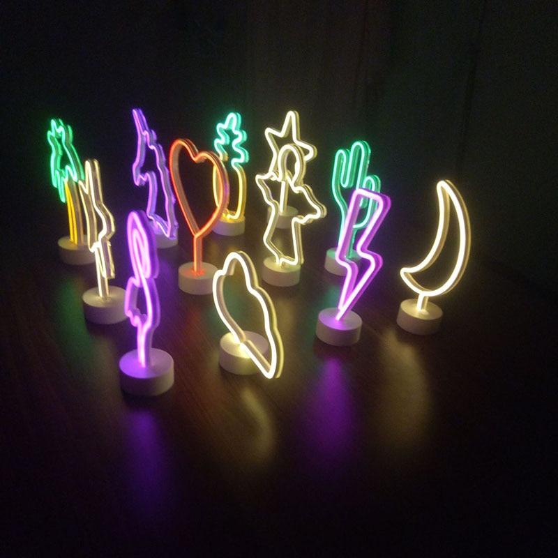 1pc led neon sign luz cactus neon sinal de luz para o quarto festa de casamento decoração de casa presente do dia dos namorados