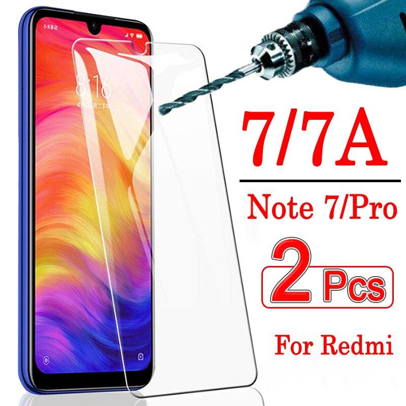 2 шт. для xiaomi redmi note 7 pro защита экрана на mi xia mi xao mi rad mi 7a a7 защитная пленка из закаленного стекла xiaomei tremp not