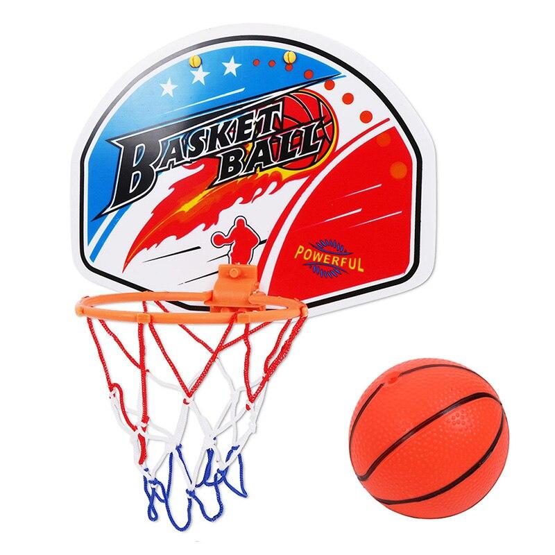 27*21cm brinquedo plástico rebotes indoor ajustável pendurado basquete netball hoop caixa de brinquedo de basquete mini placa de basquete