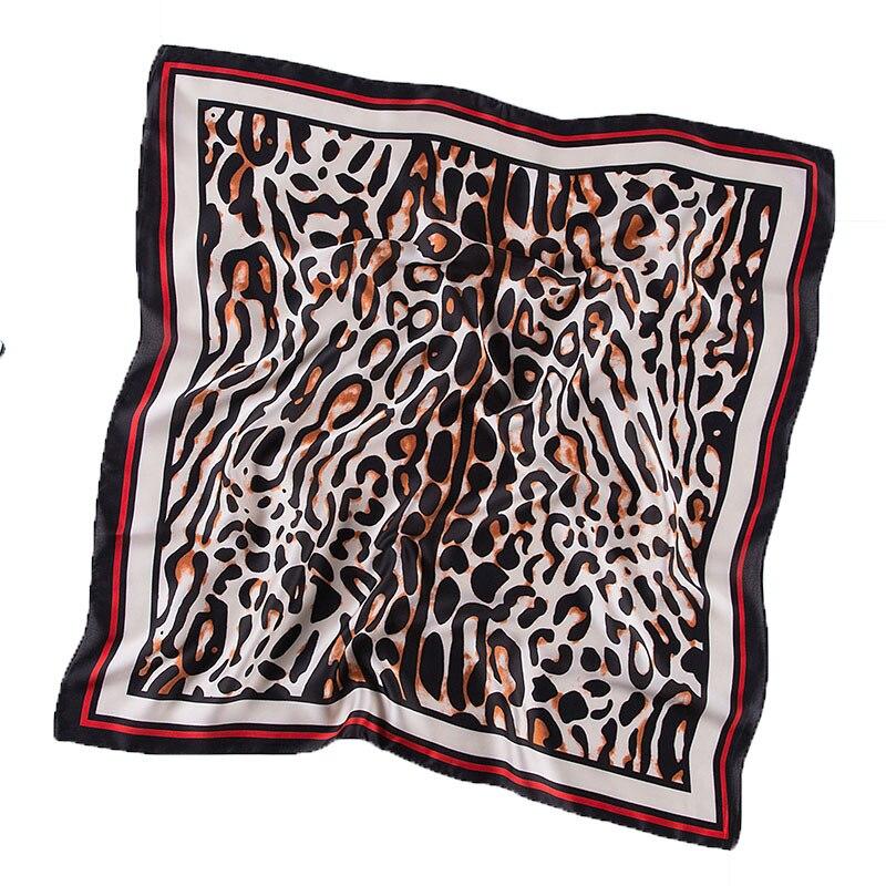 Silk Head Scarf Women Satin Shawl Wrap Fashion Office Lady Hair Band Hand Kerchief Spring Summer Scarves 70*70cm Foulard Bandana