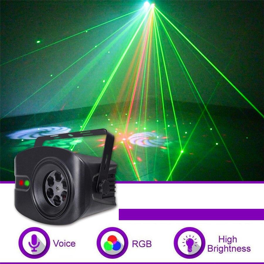 AC100-240V 52 Patterns Led laser light 13W RGBW Projection lamp & Remote controller Smart Stage effect lights Home decoration