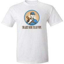Je suis juste ici pour poser Pipe t-shirt hommes drôle blague Merch adulte Humor t-shirt nouvelle mode classique t-shirt