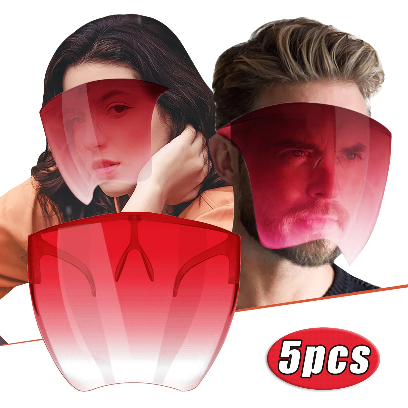 PE Anti-fogging Face Shield Oversized Visor Wrap Shield with Anti-fog spray Large Mirror Guard Protector Halloween Mask Kitchen