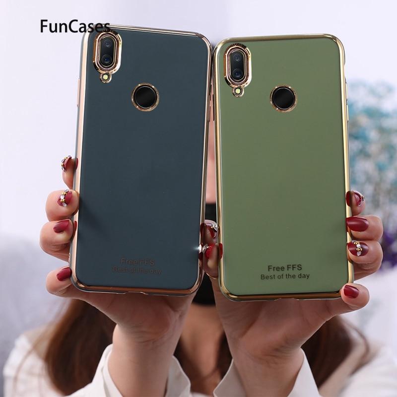 Lindo Protector Soft TPU ajax Huawei Honor 10 Lite Floral medio en los casos de la sFor Huawei estuche P Smart 2019 Csse Aksesuar