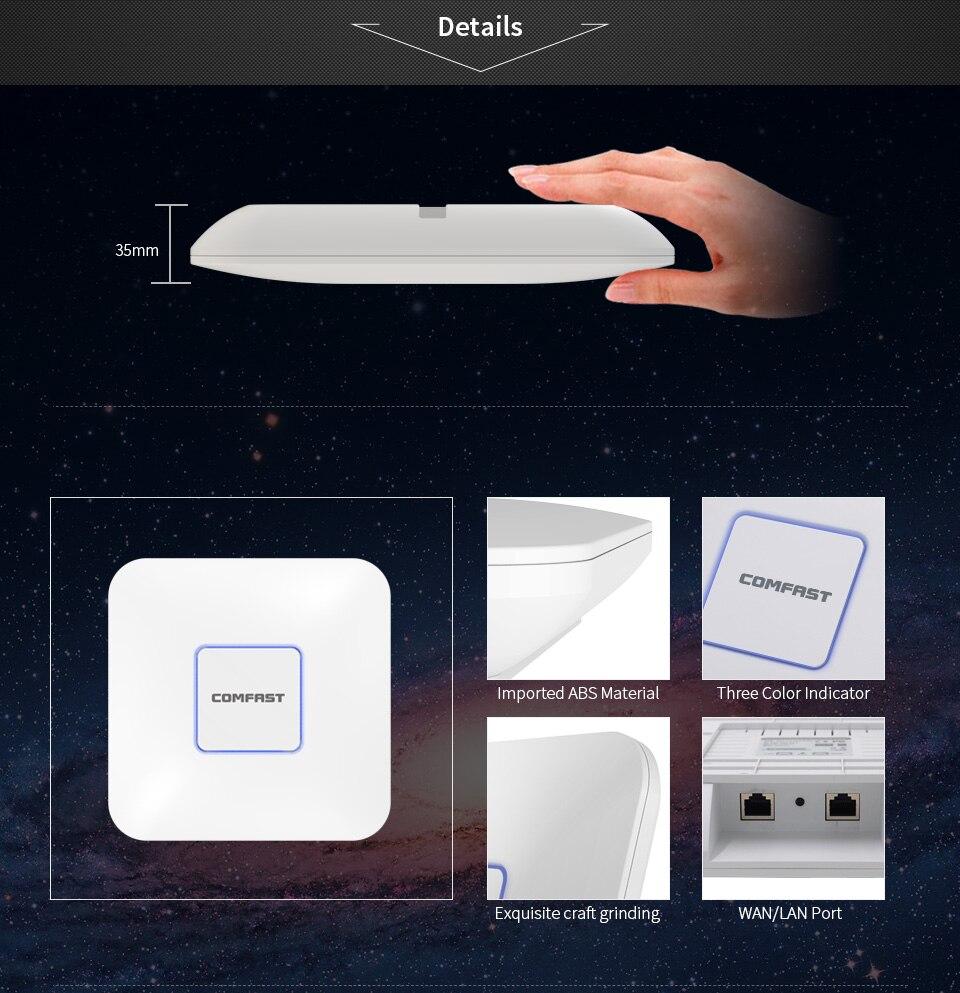 Extensor de señal WiFi para techo interior, amplificador y Reapter, punto de...