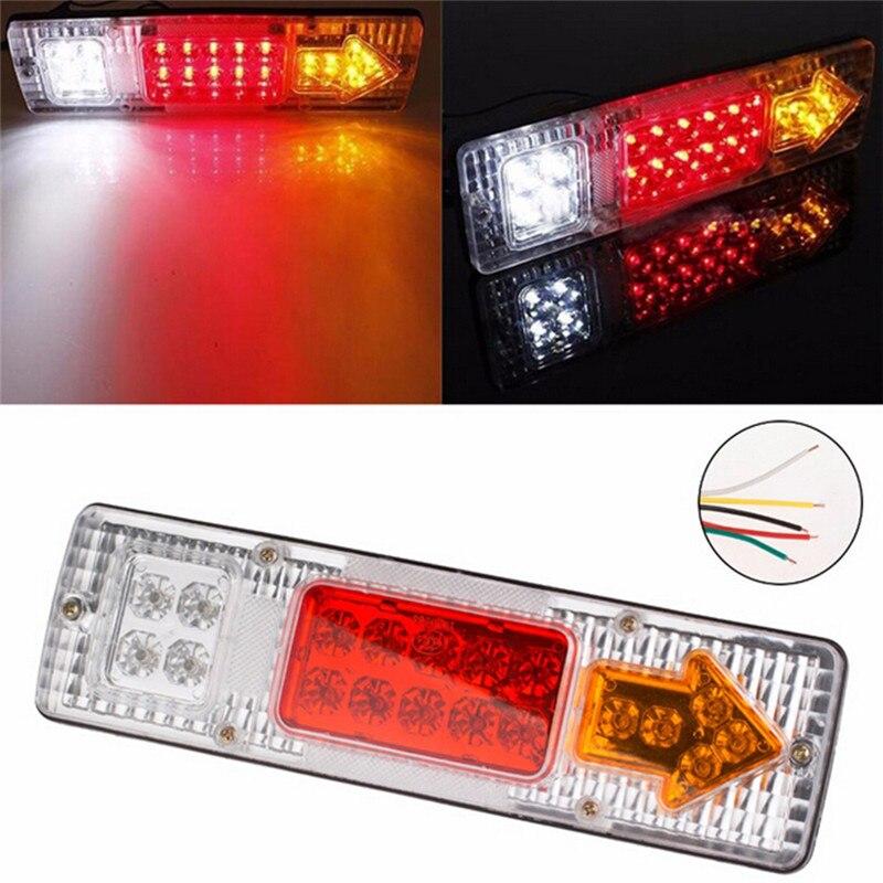 Светодиодный задний фонарь светильник автомобильный прицеп остановка заднего указатель поворота новое поступление для зарядки 12 В (1 шт.);-19