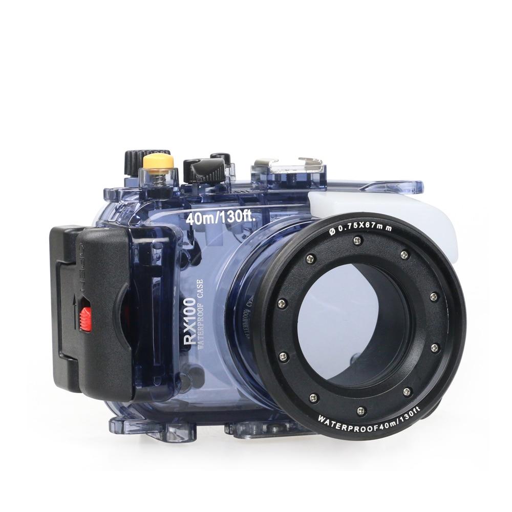 Searogs لسوني RX100 الأول الثاني الثالث الرابع الخامس السادس السابع M5A كاميرا رقمية الغوص حالة تحت الماء الإسكان غطاء مقاوم للماء حقيبة مضادة للما...