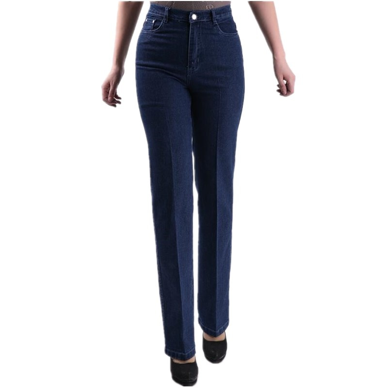 2021; Сезон весна-лето; Женские повседневные джинсы высокого качества с эластичной резинкой на талии, джинсы синего цвета размера плюс джинсы ...