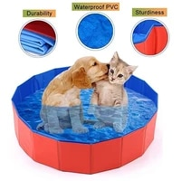 dog bathtub foldable swimming pool for small to large sized dog cat portable multiple use outdoor bathing tub for pets kids