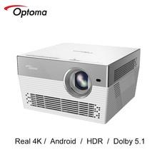Optoma I5 + 4K 3840*2160P Video TV 4K DLP Proyector Android Wifi Dolby Beamer Cine en Casa UHL55 actualización