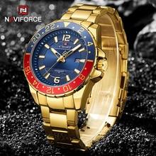 NAVIFORCE Men's Watch Top Luxury Brand Fashion Business Watch Men's Quartz Calendar Stainless Steel