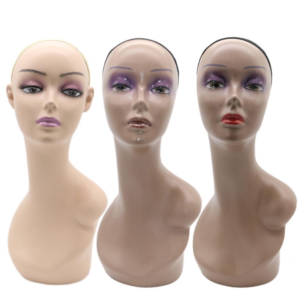 Maniquí femenino cabeza de maniquí peluca joyería sombrero tapa soporte de exhibición