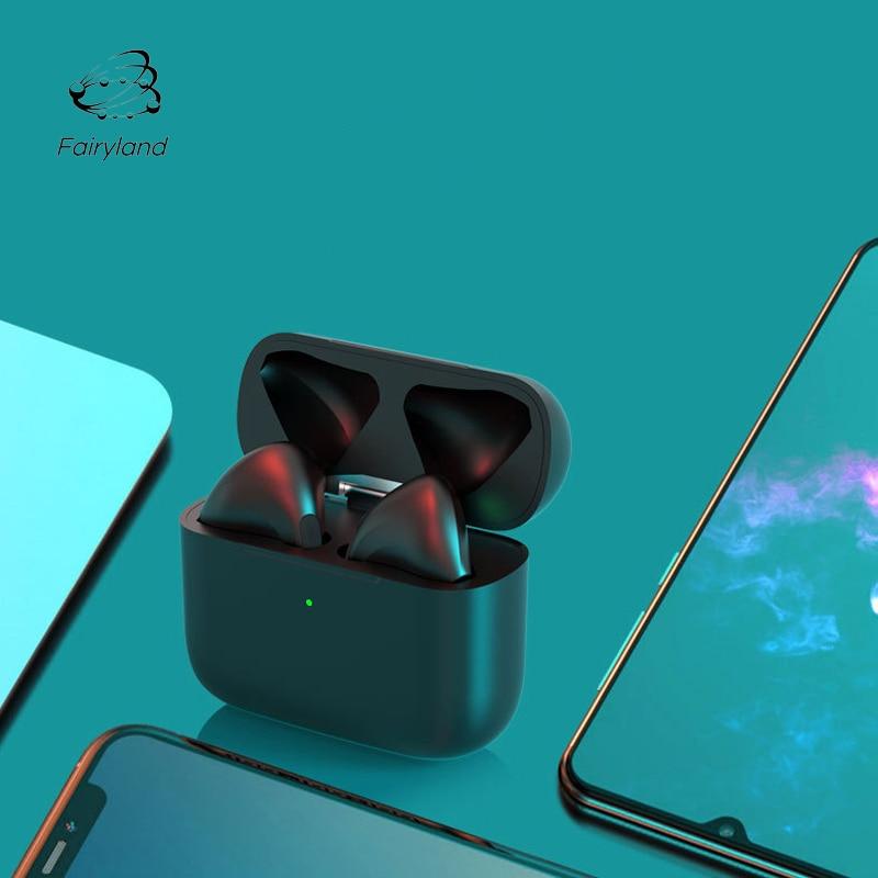 Fones de ouvido sem fio com cancelamento de ruído com microfone bluetooth v5.0 mini fone de ouvido estéreo esporte para telefones android iphone