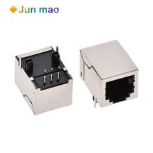 10 stücke RJ11 buchse rj12 telefon buchse 56-6p6c weibliche mit abgeschirmt kupfer schale L = 18,5mm
