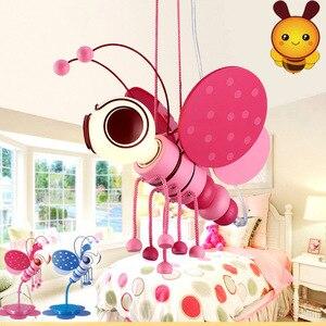 Children's room Pendant Lamp boy girl children's bedroom lamp cartoon creativity lovely personality small bee room lamp