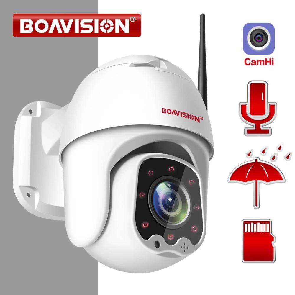كاميرا 1080P لاسلكية صغيرة PTZ IP واي فاي قبة سرعة 2MP CCTV الأمن كاميرا IP في الهواء الطلق IR 30M اتجاهين الصوت P2P APP CamHi