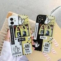 cartoon mcdonalds mobile phone case iphone 12 11 11pro max xr xs max 8 7 plus x xs 11pro