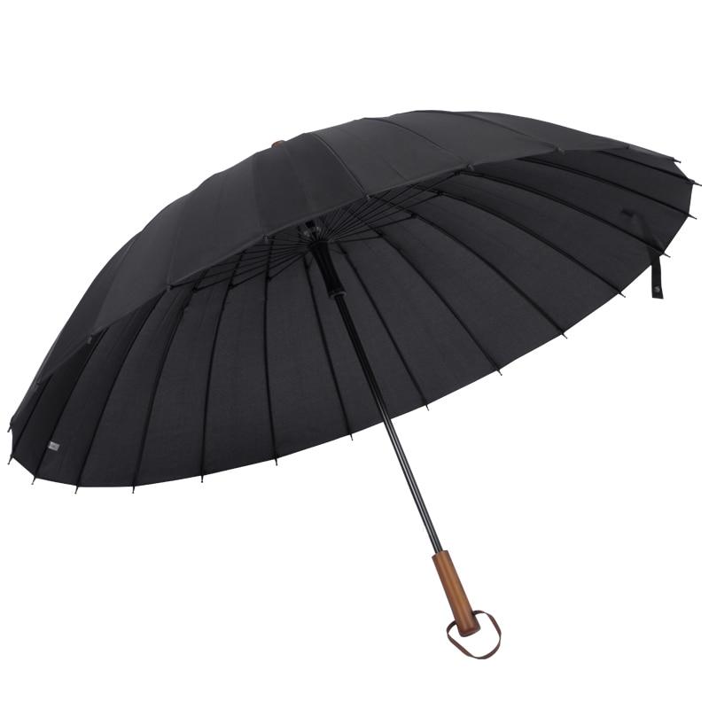Retro Business Long Handle Umbrella Simple Large Waterproof Straight Rain Umbrella Outdoor Windproof Parapluie Rain Gear DF50YS enlarge