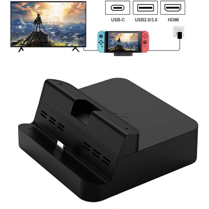 Gulikit soporte de carga portátil para Nintendo Switch, cargador de mesa soporte de acoplamiento interruptor modo TV/modo Dock accesorios de juego