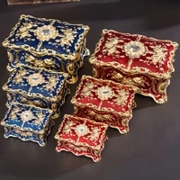 ssh01 weizx vintage rectangle trinket box jewelry box ornate antique engraved jewerly storage box jewelry organizer three style