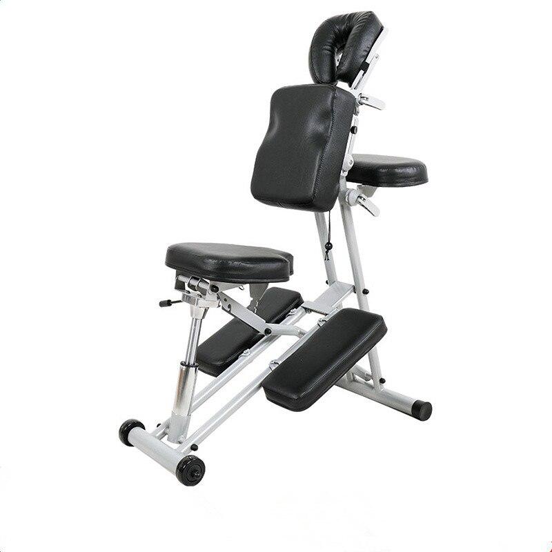 Портативный Регулируемый массажный стул, сильный легкий складной массажный стул с колесиками для тату-салонов, спа-салонов, оборудование д...