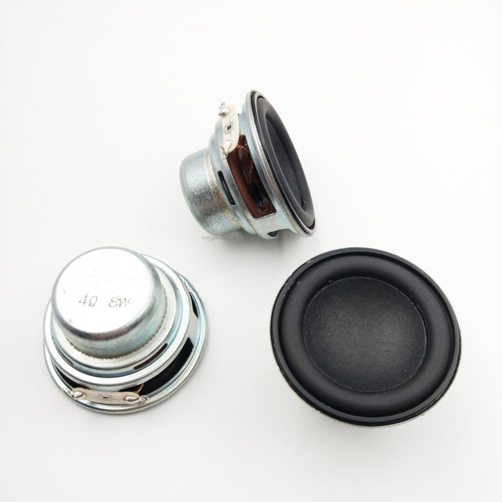 Altavoz DIY de borde redondo de goma de 45mm y 4Ohm y 8W, altavoz NdFeB dual magnético con Bluetooth, altavoz de frecuencia completa 2 unidades por lote