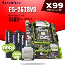 X99 motherboard set with Intel Xeon E5 2678 V3 4 × 16GB = 64GB 2400MHz DDR4 PC PC4 memory 64G DDR 4 E5 2678V3