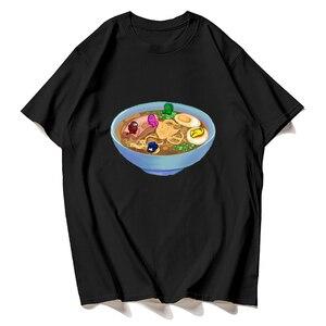 FashionAmong Us Ramen Bowl T-ShirtT shirt(Who went firstItachi Uchiha abulous Casual Cool Streetwear Couple Hip Hop Top Tee Male