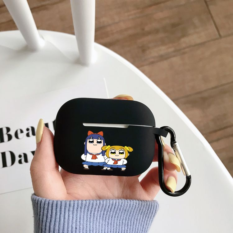 Силиконовый чехол в стиле Аниме Pop Team Epic для Airpods Pro, чехол с беспроводным Bluetooth для Apple Airpods Pro, чехол для наушников, чехол чехол