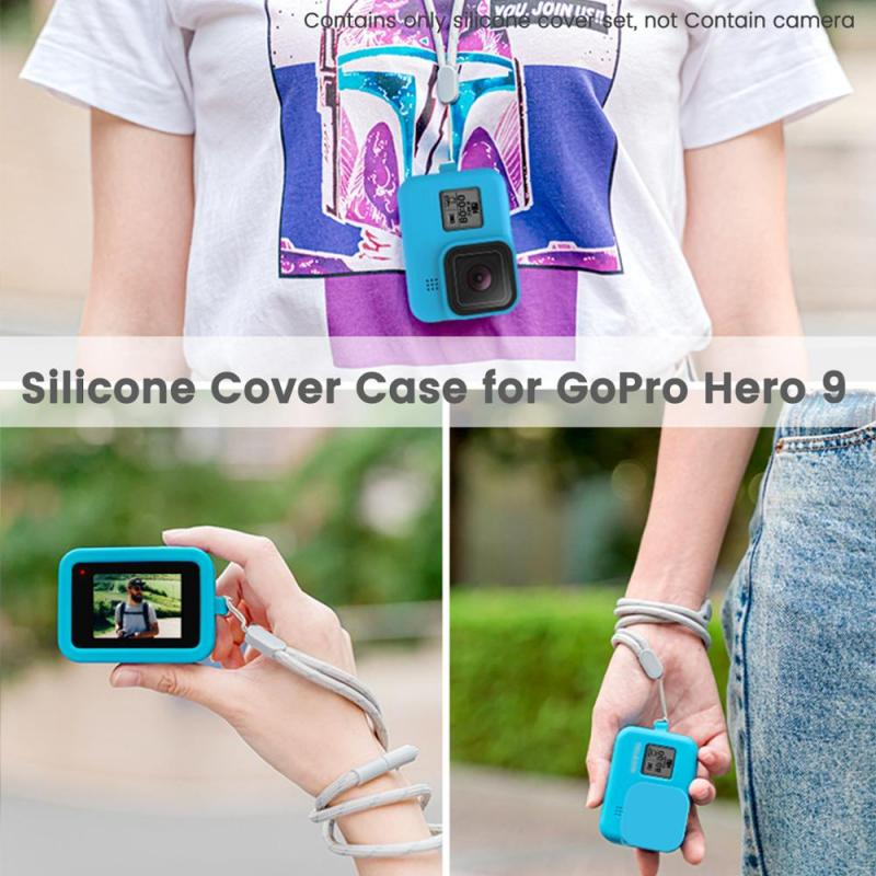 Sports Camera Silicone Case For GoPro Hero 9 Sports Camera Sports Action Video Cameras Accessories For GoPro 9