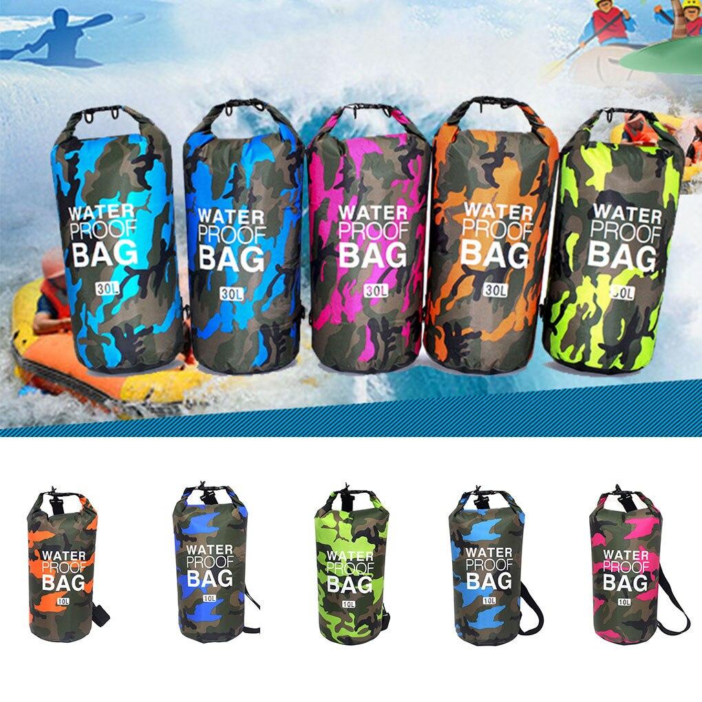 Bolsas secas impermeables de camuflaje para Exteriores, 2/5/10/15l, bolsa seca para Rafting, buceo, saco de PVC, bolsas de natación para Trekking de Río
