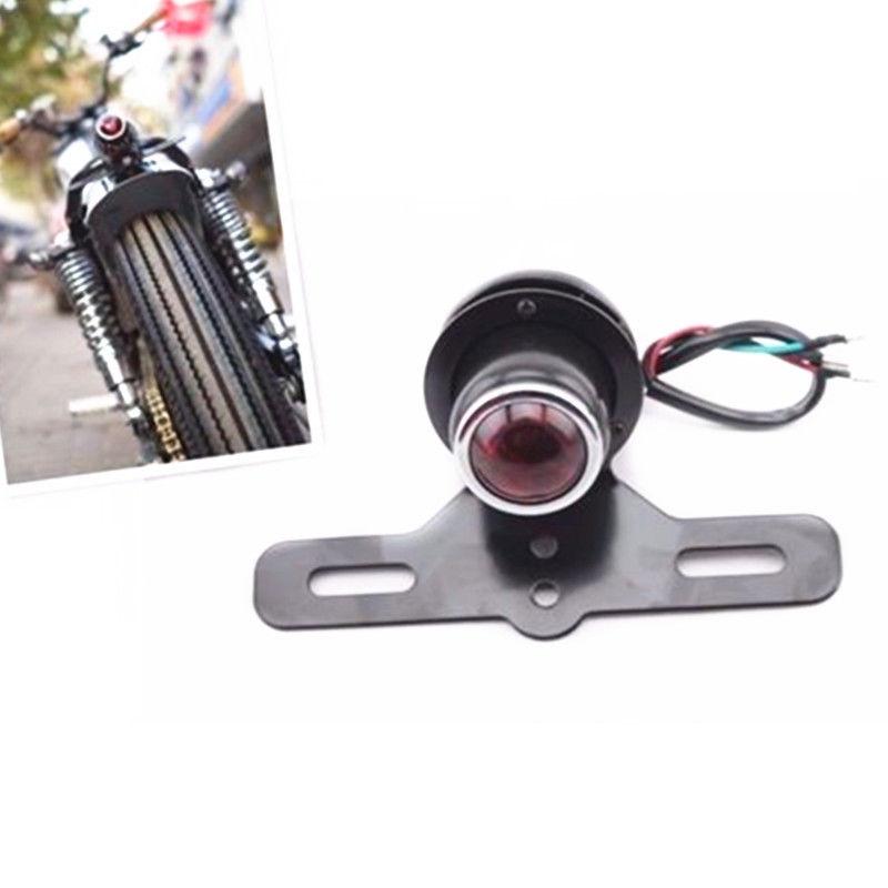 Preto luz da cauda freio parar lâmpada titular da placa de licença da motocicleta para harley bmw bad boy blackline dyna electra glide fatboy