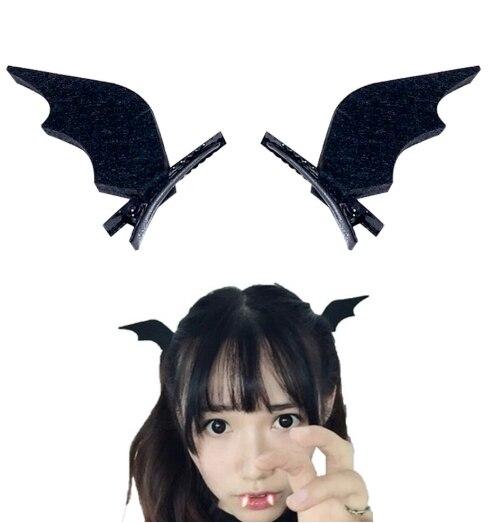 2 pçs halloween stereo diabo hairpin bandana cosplay festa traje headdress acessórios demônio morcego orelha hairpin