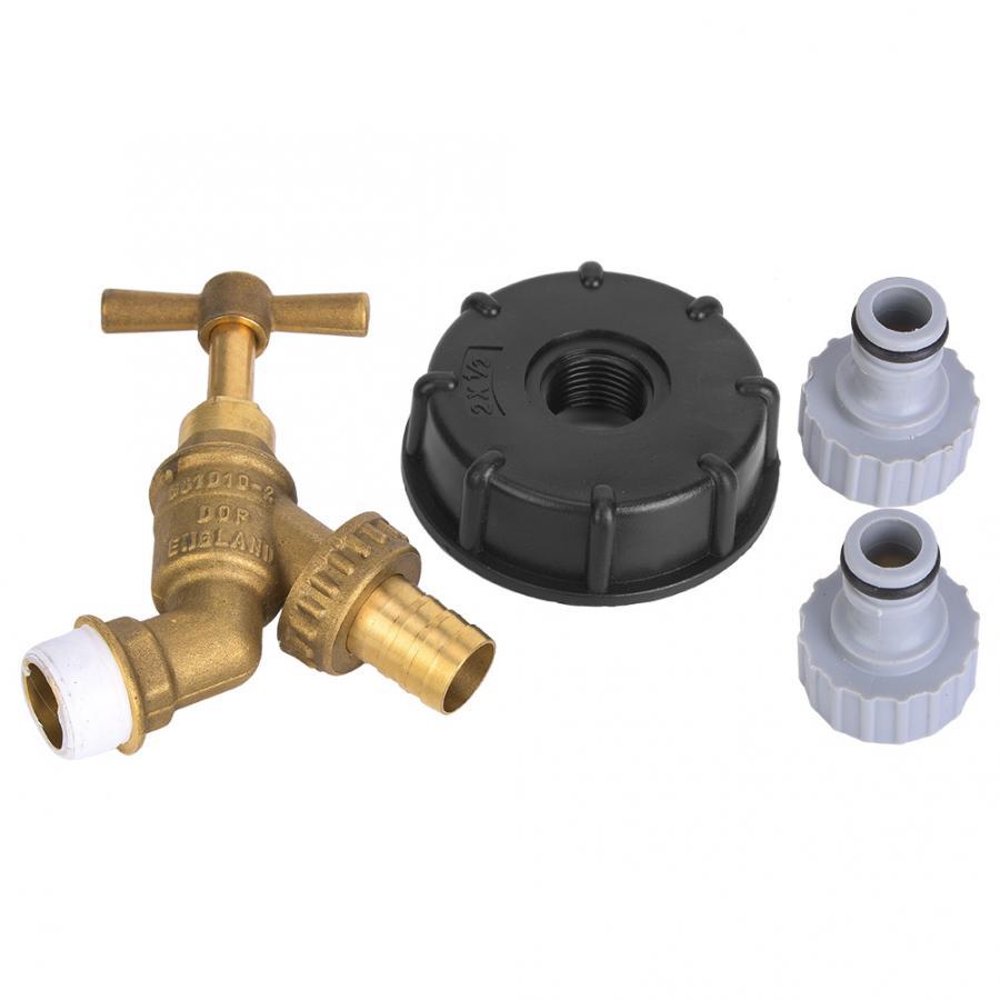 S60X6 1/2 pulgadas a grifo de latón bronce aceite combustible agua para válvula de adaptador IBC