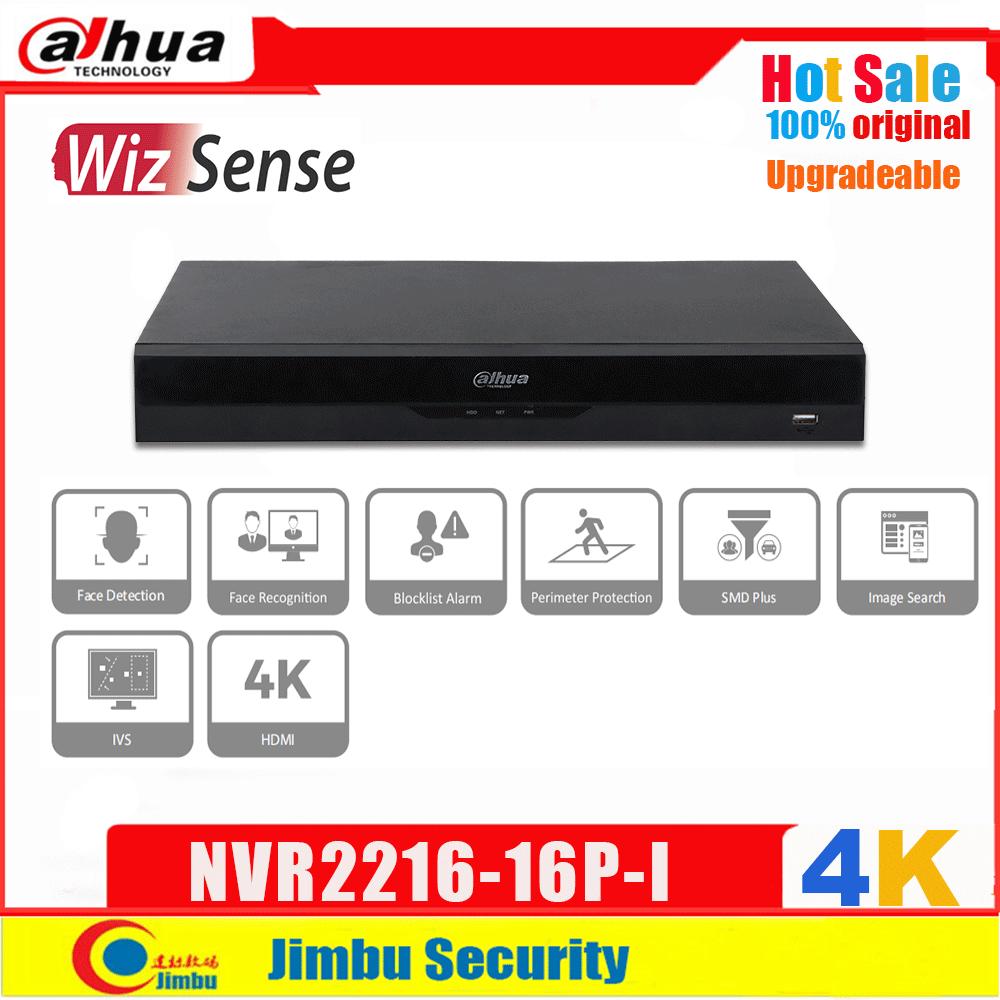 داهوا WizSense NVR 4K مصلحة الارصاد الجوية زائد IVS DHMI 16 قناة 1U 16 PoE H.265 POE NVR2216-16P-I التعرف على الوجه كشف مسجل فيديو