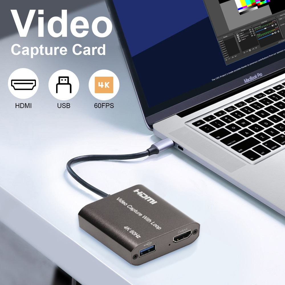 best hd 1080p hd 3g sdi hdmi vga ypbpr dvi capture dongle live streaming video audio capture card game video grabber HDMI Video Capture Card Full HD 1080P HDMI USB 2.0 3.0 Video Capture Board Game Record Live Streaming Broadcast 4K 60hz Loop Out