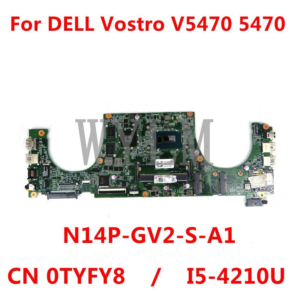 Placa-mãe para computador dell, v5470, 0tyfy8, sr1ef, placa-mãe, teste completo, 100%