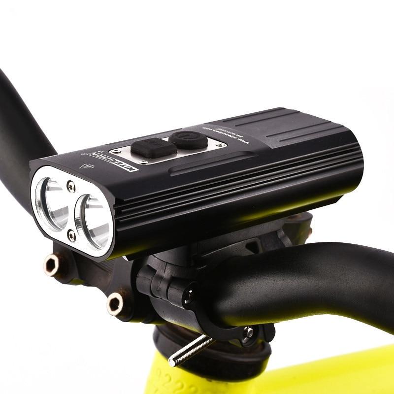 NITENUMEN 1800Lumens Bicicleta Frente Ciclismo Luz Farol Bicicleta Lanterna Recarregável À Prova D Água 6800mah Lâmpada de Cabeça Led Para MTB