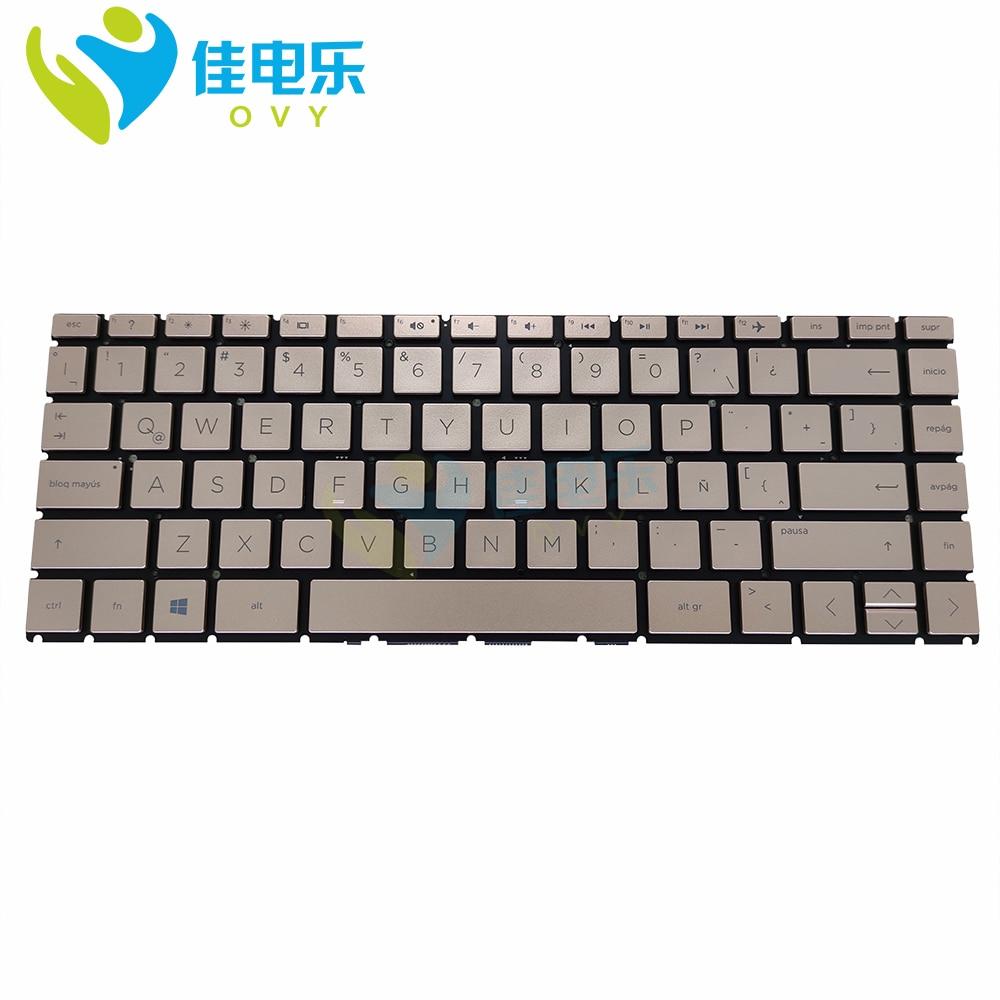 في لا استبدال لوحة المفاتيح ل HP بافيليون 14 CE CE0001LA 14-CE0000NT 14-CE0002TX اللاتينية الذهبي دفتر لوحات المفاتيح SG-93270-X9A
