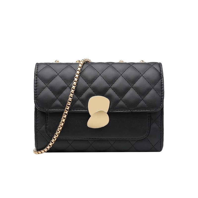 موضة جديدة اللون مطابقة المعادن سلسلة ثقيلة حقيبة المرأة حقيبة 2021 جديد الحب رسالة حقيبة واحدة الكتف crossbite صندوق مربع صغير