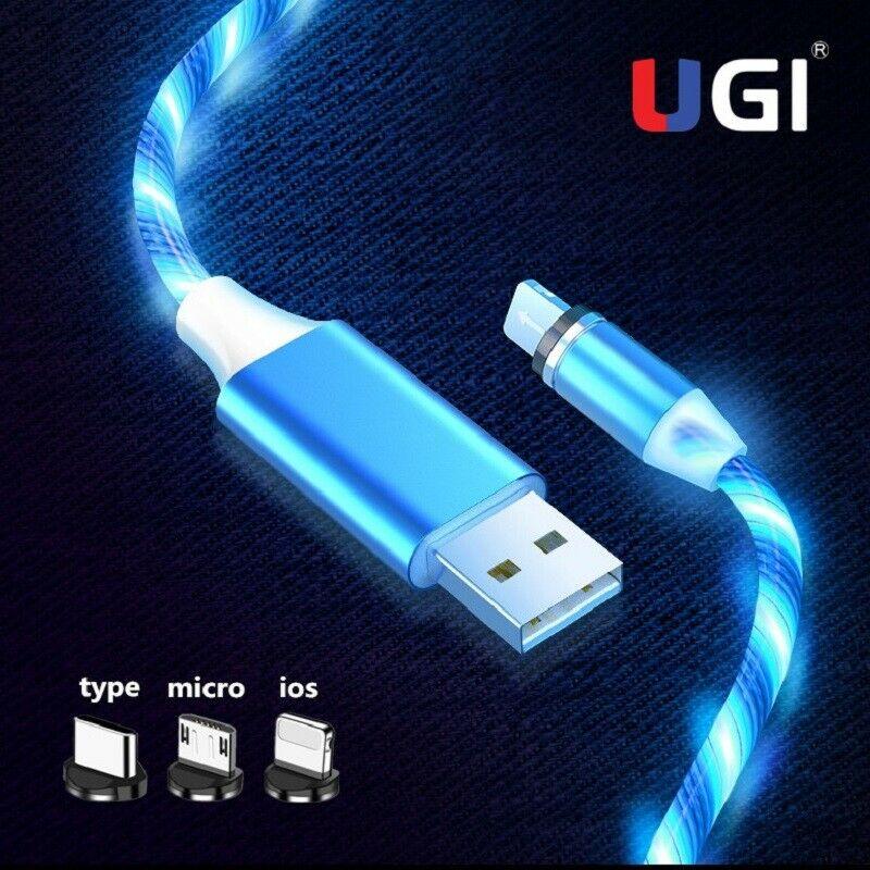 UGI magnética Cable de carga de cargador para IOS tipo C USB-C...