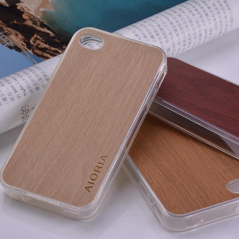 Чехол для iphone 4S, деревянный кожаный стикер с жестким ПК, чехол для iphone 4, 4S, классический винтажный Ретро стиль, чехол