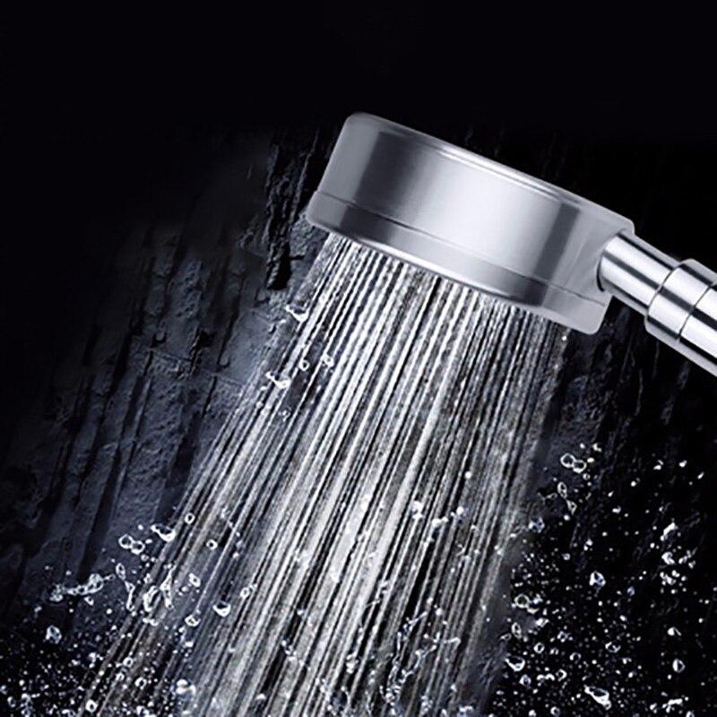 الفضاء الألومنيوم تصفية الضغط دش الأيونات السالبة دش المعادن دش الفضاء الألومنيوم ضغط توفير المياه حجم كبير