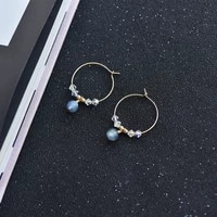 lily jewelry 925 sterling silver hoops earring labradorite blue light crystal circle earrings for women party gift