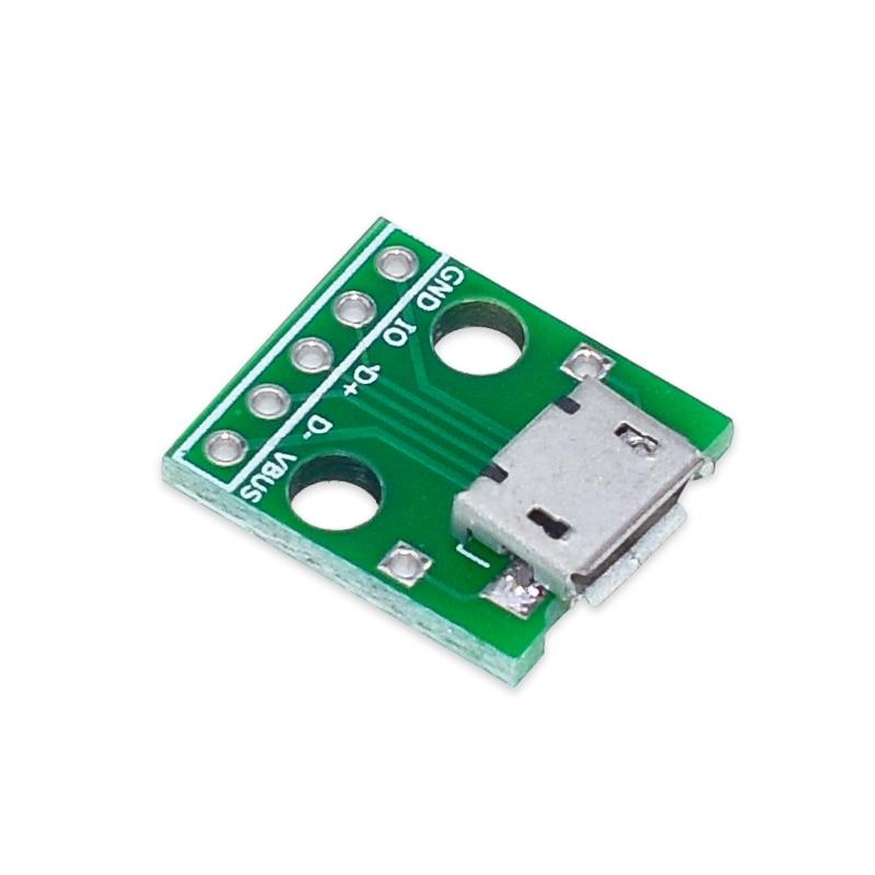 10 шт., адаптер MICRO USB Для DIP-адаптера