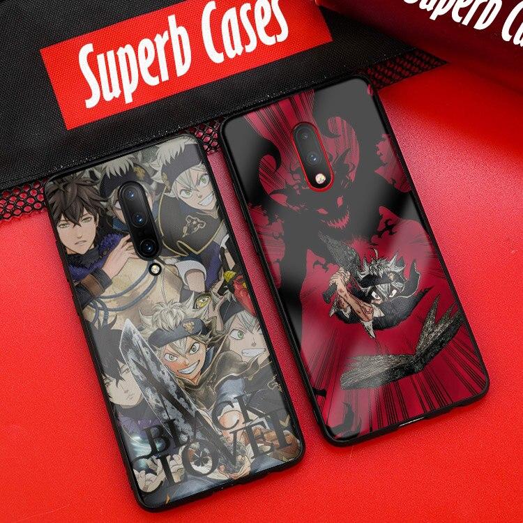 Capa de telefone preta para oneplus 6 6t 7 pro capa de vidro temperado tpu macio silicone suave coque escudo