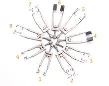 Instruments chirurgicaux ophtalmiques dacier inoxydable doutils de double paupière douvreur de spéculation doeil