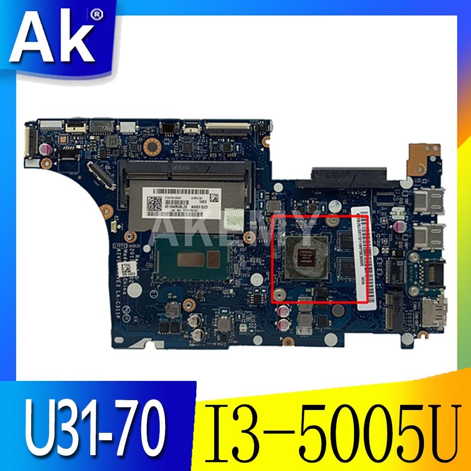 Akemy LA-C311P اللوحة الأم للكمبيوتر المحمول AIVS3/AIVE3 لينوفو IdeaPad U31-70 اللوحة الرئيسية الأصلية ث/I3-5005U GT920M 100% اختبارها بالكامل